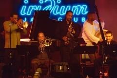 Freddie Hubbard, Steve Davis, Craig Handy, Dwayne Burno and David Weiss Freddie Hubbard and The New Jazz Composers Octet Iridium September 2003 Photo Mark Millen